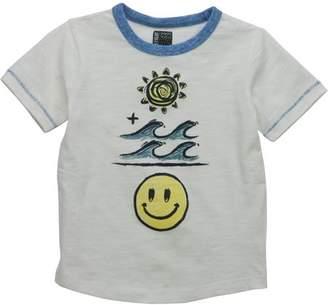 No Retreat Toddler Boys' Graphic Contrast Trim Short Sleeve T-Shirt