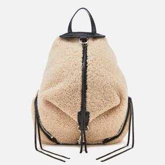 Rebecca Minkoff Women's Shearling Julian Side Zip Backpack