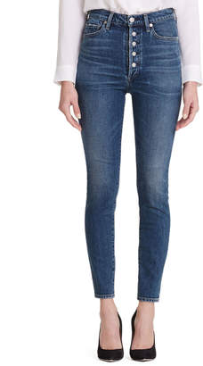 af7a51700bdcd Citizens of Humanity Olivia High-Rise Skinny Jeans with Exposed Button Fly