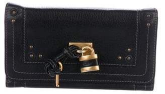 Chloé Grained Leather Lock Wallet