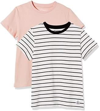 Kid Nation Kids' 2-Pack Short-Sleeve Crew-Neck T-Shirt for Boys Girls S