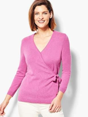 Talbots Cashmere Faux-Wrap Sweater