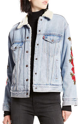 Levi's Ex-BF Sherpa Cotton Trucker Jacket