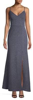 Eliza J Sparkle Knit Column Gown