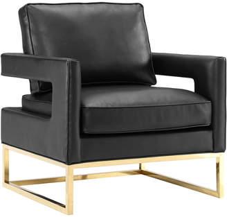 TOV Tov Avery Black Leather Chair