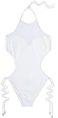 Melissa Odabash St Tropez Crochet Knit-Paneled Cutout Swimsuit