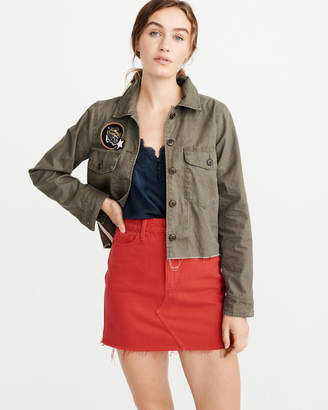 Abercrombie & Fitch Cropped Twill Jacket
