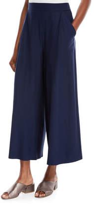 Eileen Fisher Lightweight Wide-Leg Ankle Pants