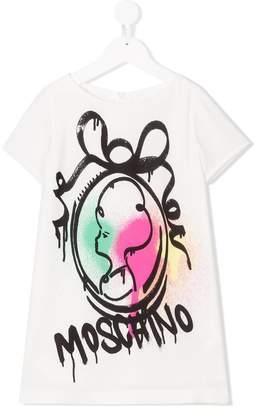 Moschino Kids graffiti T-shirt dress