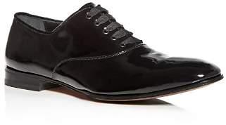 Salvatore Ferragamo Men's Patent Leather Plain Toe Oxfords