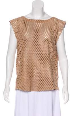 Drome Perforated Leather Top