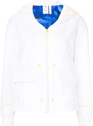 Sophia Webster Puma X contrast-trim hooded jacket