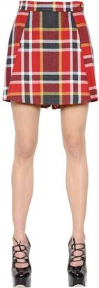 Vivienne Westwood Plaid Washed Cotton & Wool Skort