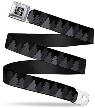 Buckle-Down Unisex-Adults Seatbelt Belt Pine Trees XL