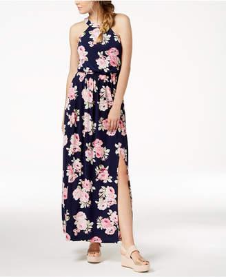 Trixxi Juniors' Open-Back Maxi Dress