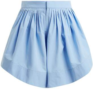 Chloé Pleated cotton shorts