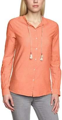 Scotch & Soda Maison Scotch Women's Long Sleeve Blouse - Orange - Orange (papaya 26) - (Brand size : Herstellergröße 1)