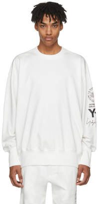 Y-3 White Logo Graphic Sweatshirt