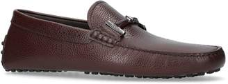 Tod's Grained Leather Double-T Driving Shoes