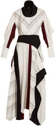 Roksanda Tulla checked silk-crepe dress