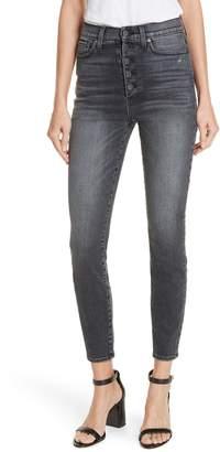 Alice + Olivia AO.LA by AO.LA Good Exposed Button Skinny Jeans