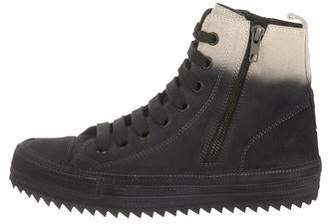 Ann Demeulemeester Two-Tone High-Top Sneakers