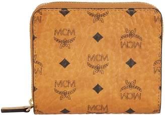 MCM Visetos Flap Zip-Around Wallet