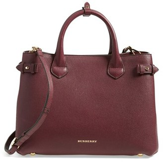 Burberry Medium Banner Leather Tote - Red $1,595 thestylecure.com