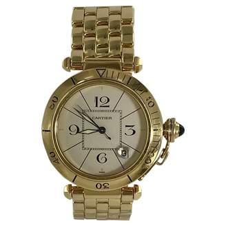 Pasha yellow gold watch