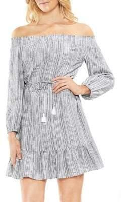 Vince Camuto Petite Off-Shoulder Waist-Tie Dress