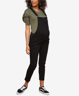 Motherhood Maternity Side Panel Skinny Leg Maternity Overall