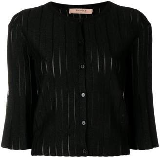 Twin-Set flared sleeve cardigan