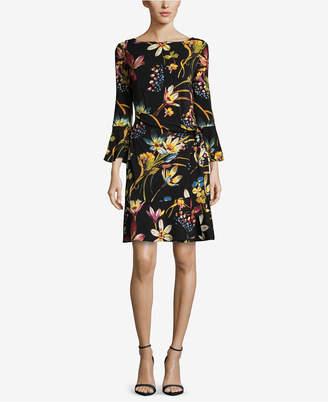 ECI Printed Tie-Waist Dress