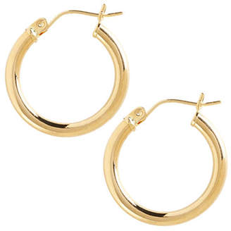 Tag Heuer FINE JEWELLERY 14K Yellow Gold Tube Hoop Earring