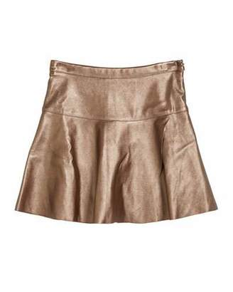 Imoga Ingrid Faux-Leather Overlap Skirt, Size 2-6