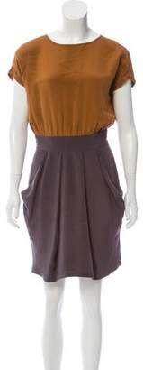 Apiece Apart Silk Colorblock Dress