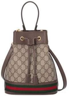 Gucci Women's Small Ophida Bucket Bag - Beige Chocolate