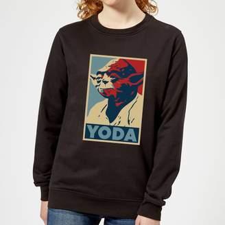 Star Wars Yoda Poster Women's Sweatshirt