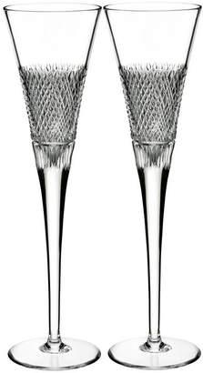 Waterford Diamond Line Flute (Set of 2)