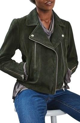 Topshop 'Julie' Suede Moto Jacket $360 thestylecure.com