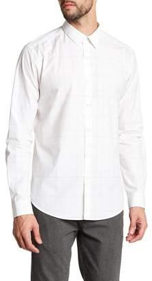 Theory Grid Print Regular Fit Shirt
