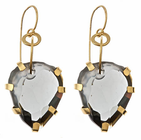 Rebecca Norman Black Diamond Swarovski Crystal Drop Earrings