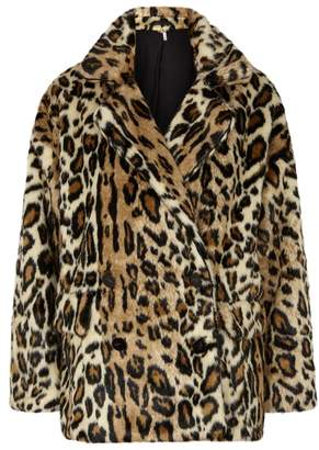 Free People Kate Leopard-print Faux Fur Coat