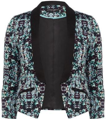Dorothy Perkins Aqua geo print jacket