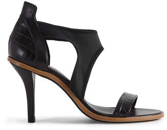 Reiss Our last order date for Christmas has now passed CAMILLE HIGH HEELED STRAPPY SANDALS Black