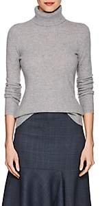 Barneys New York WOMEN'S CASHMERE TURTLENECK SWEATER-GRAY SIZE XL
