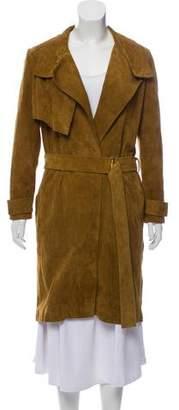 IRO Belted Suede Coat