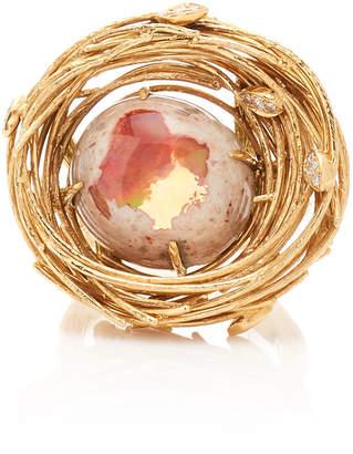 Mimi So 18K Gold Opal and Diamond Ring