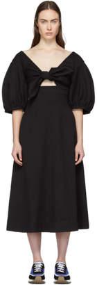 Edit Black Tie Front A-Line Dress