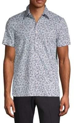 Perry Ellis Printed Button-Down Shirt